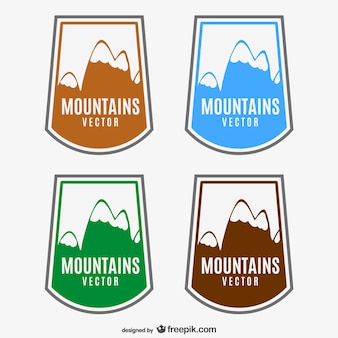 Montagne etichette vettore