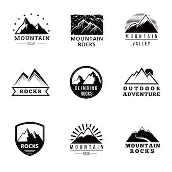 Mountains vector logo