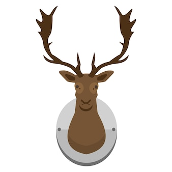Mounted deer head