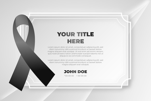 Mourning black respect ribbon