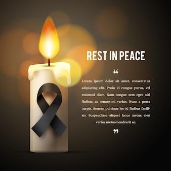 Траур по погибшим со свечой