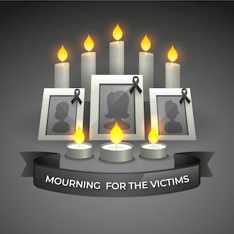 犠牲者を悼む