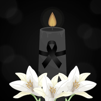 Mourning for the victims concept