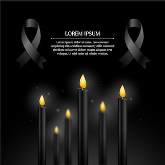 Mourning for the victims design