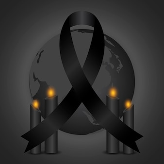 Mourning for the victims illustration