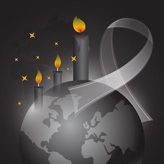 Lutto per l'illustrazione delle vittime