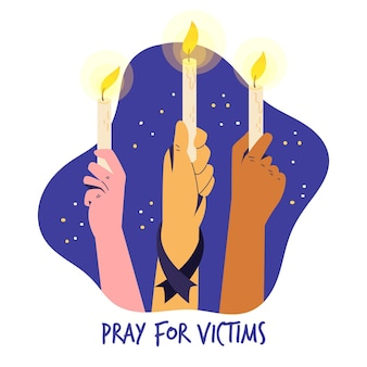 Mourning for the victims theme