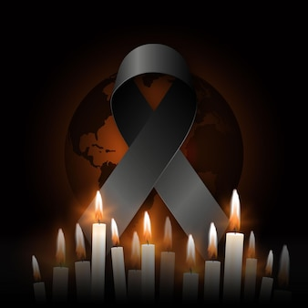 Mourning for the victims Premium Vector
