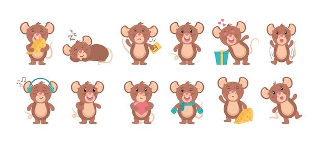 マウス漫画動物イラスト