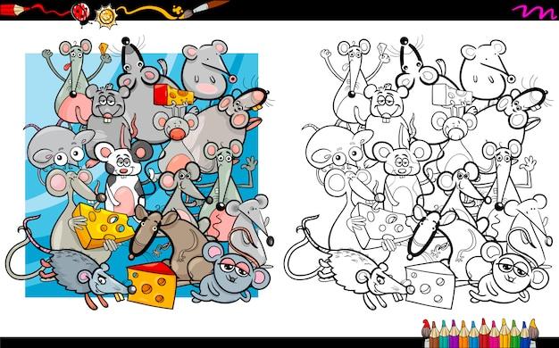マウスキャラクターの本を彩る