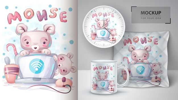 Mouse connects wifi poster and merchandising