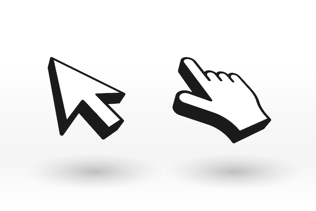 Mouse cursor and pointer in 3d style