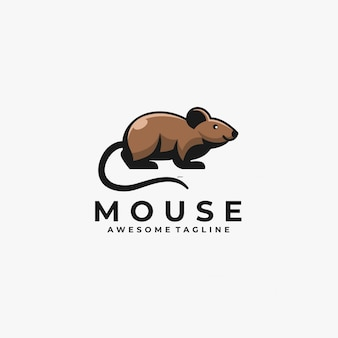 Mouse cute   logo.