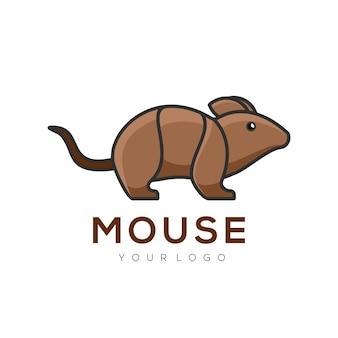 Милый логотип мыши