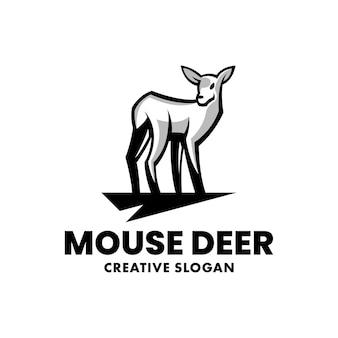 Mouse deer simple logo template