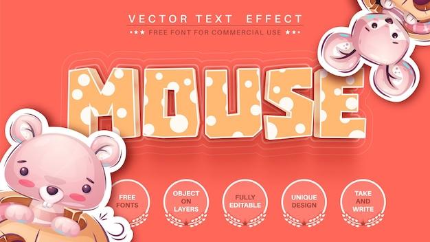 マウスの金曜日の編集可能なテキスト効果