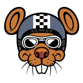 Mouse head rider mascot