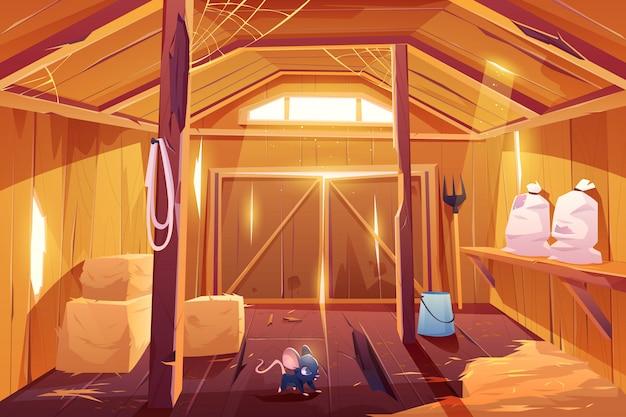 Мышь в ферме сарай дом