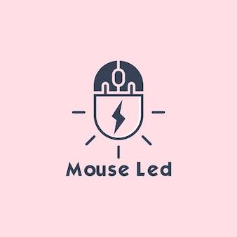 마우스 led 로고