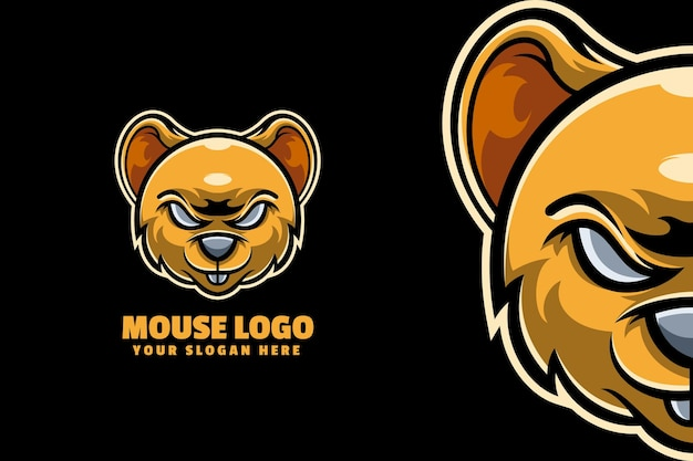 Mouse mascot logo template