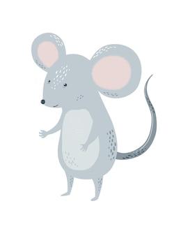 Мышка или крыса детская в скандинавском стиле