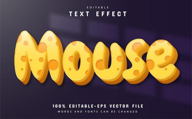 Mouse text, editable 3d text effect