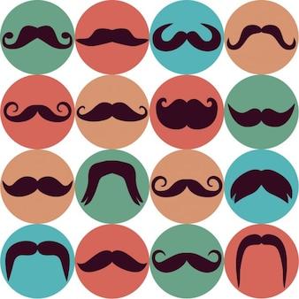 Moustache icons background