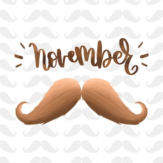 Moustache movember background