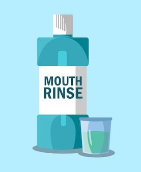 Mouth rinse, mouthwash   illustration