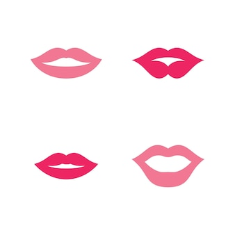 Mouth smile red sexy woman lips illustration design