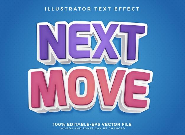 Next move editable text effect