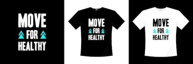 健康的なタイポグラフィtシャツのデザインに移行