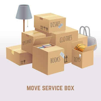 Move service box illustration