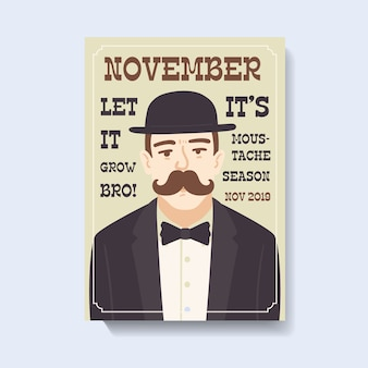 Movember awareness poster template