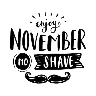 Movember awareness with lettering