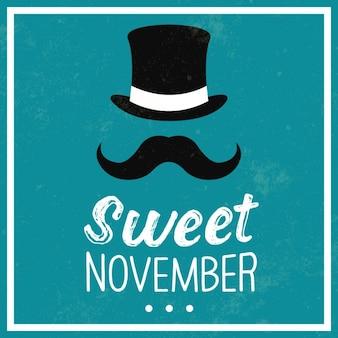 Movember 배경 디자인