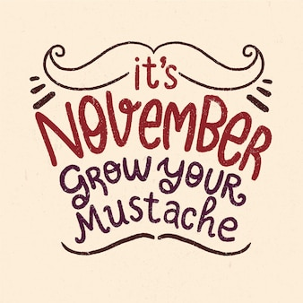 Movember background with lettering