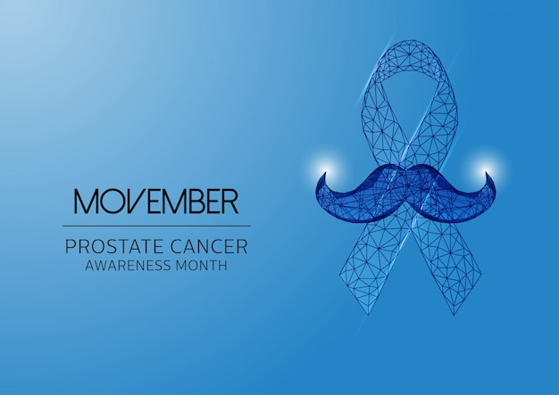 Movember background with ribbon
