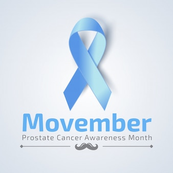 Movember banner with blue ribbon