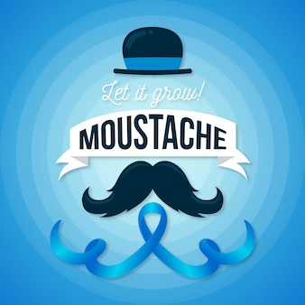 Movember concept in flat design
