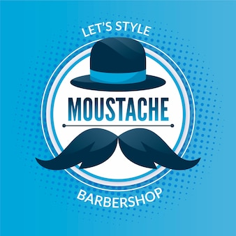 Movember concept in flat design Premium Vector