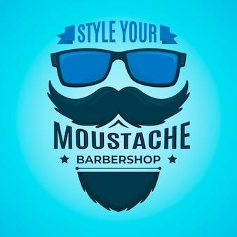 Movember concept in flat design Premium Vector