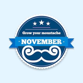 Movember concept in flat design