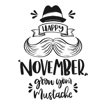 Movember concept with lettering