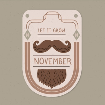 Movember concept with vintage design