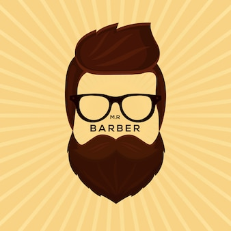 Movember design background with hipster beard