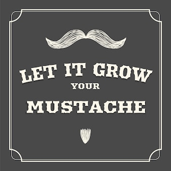 Movember design background with mustache