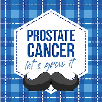 Movember design. cancer prostate