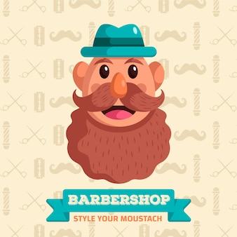 Movember in flat design