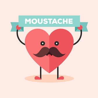 Movember 하트 디자인